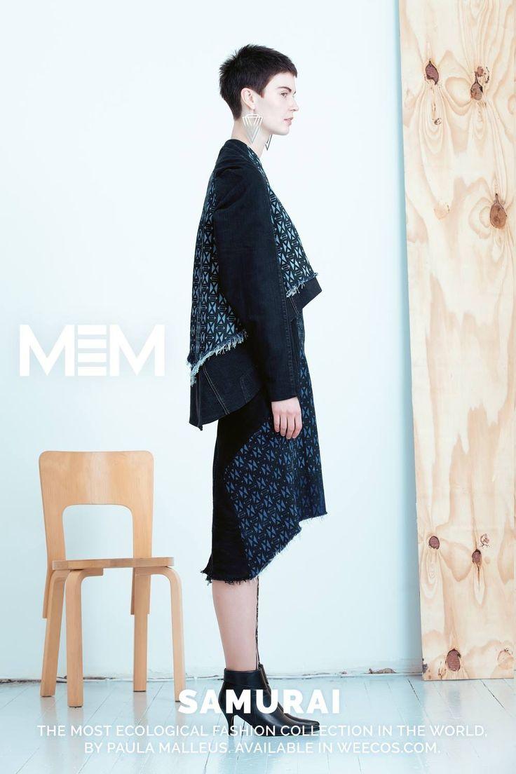 Pure postconsumer denim design MEM samurai 2017 Teru jacket  Same skirt