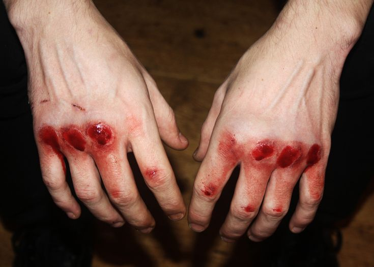 I tried to paint on canvas : fists were paintbrushes & blood was ...