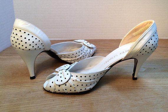 Charles Jordan Shoes Vintage Bridal Shoes by NewYorkBridalVeils