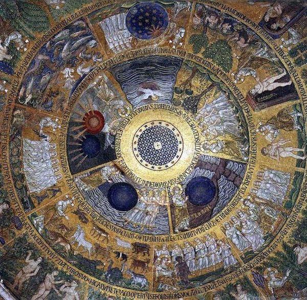 TOUCH questa immagine: In principio Dio creò il cielo e la terra by arte cristiana