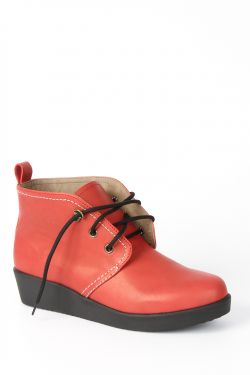 Winter : RED ANKLE BOOT