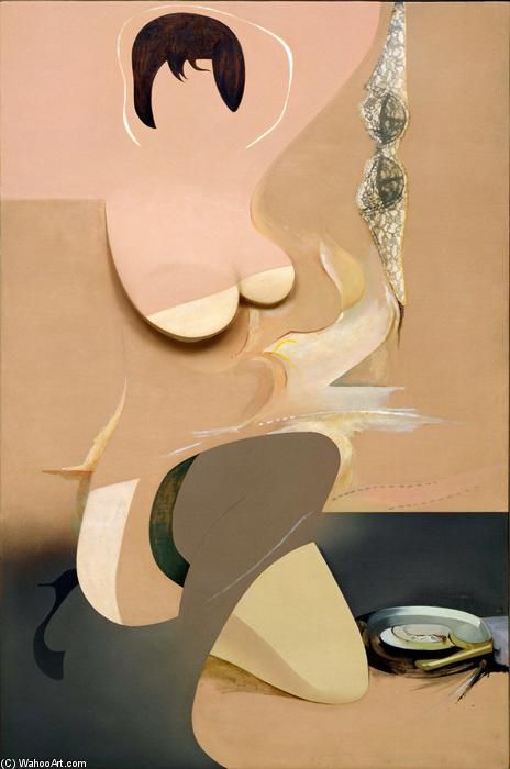 'Ragazza copertina', collage di Richard Hamilton (1922-2011, United Kingdom)