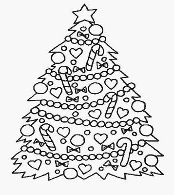 tree coloring pages christmas
