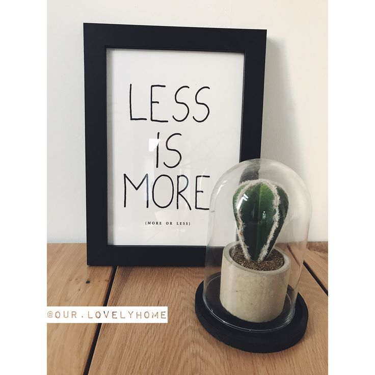 Less is more. 🌵 ✖️•✖️•✖️•✖️•✖️•✖️•✖️•✖️•✖️•✖️•✖️•✖️•✖️• • • #our #house #home #stoerwonen #zwartwitwonen #binnenkijken #cactus #less #is #more #photo #photoframe #cactuslover #kwantum #kwantumnederland #kwantuminhuis #quote #stolp