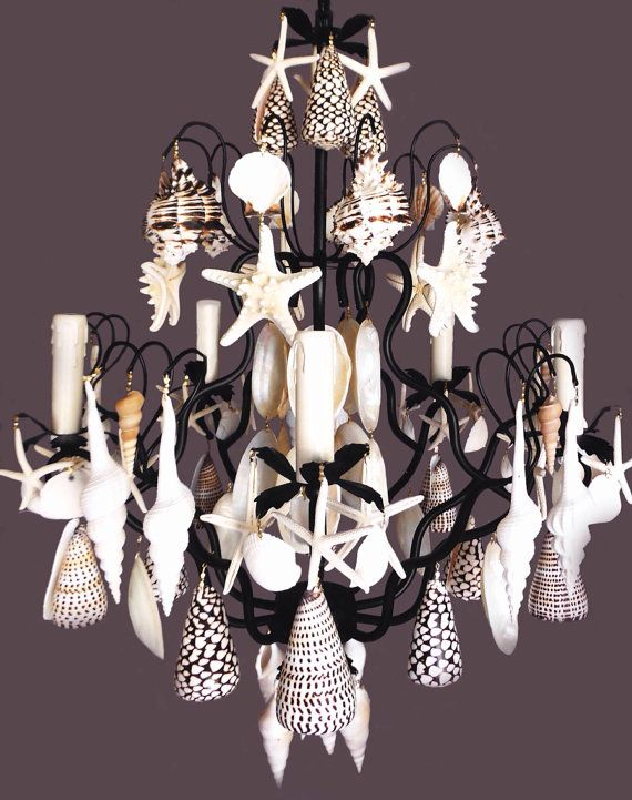 Could Really Diy This Would Use A Seashell Chandelierhandmade Chandelierchandelier Ideaschandelierssolana
