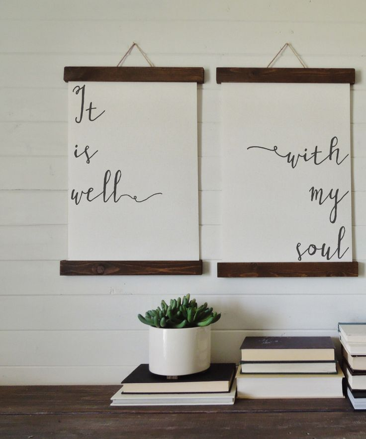 It is well with my soul/canvas art print/wall art/canvas print/wall decor/set of 2 by thewoodedlane on Etsy https://www.etsy.com/listing/450589278/it-is-well-with-my-soulcanvas-art