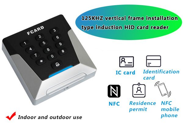 125KHZ vertical mounted induction RFID reader Equipped with