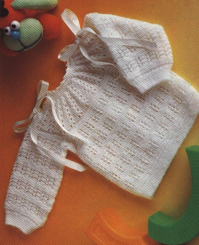 Jersey de bebé en punto fantasía