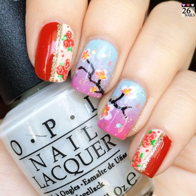 100 best my nail art twentysixnails images on pinterest nail chinese new year 2014 chinese new year nails cny nails nail art for prinsesfo Images