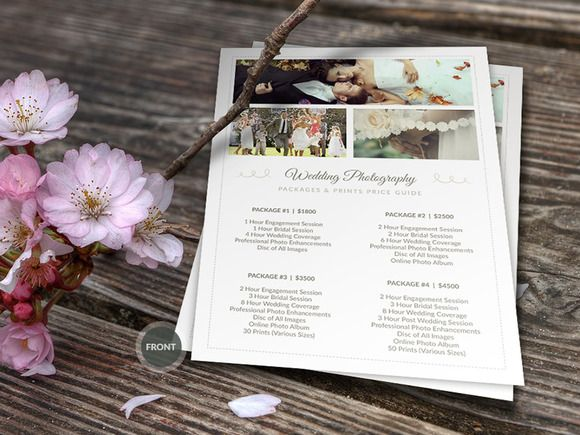 Wedding Photographer Pricing Guide by Cursive Q Designs on @graphicsmag