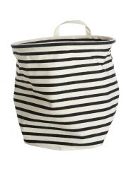 Monochrome Striped Storage Bags