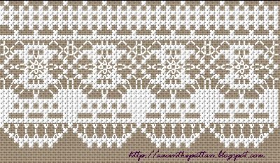free chart cross stitch lace