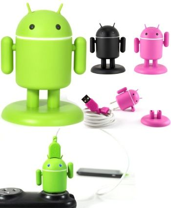 Andru Android Robot USB Cell Phone Charger   Good Birthday Gifts for 16 Year Old Boys