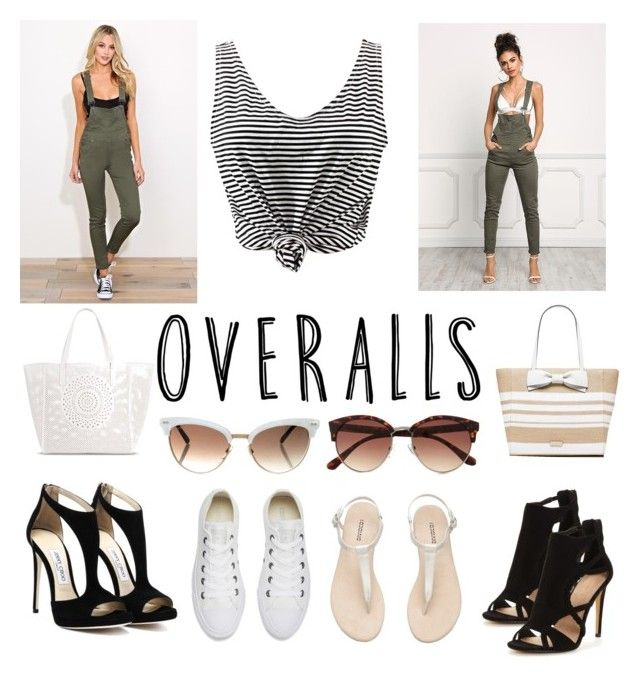 """Overalls Contest"" by kaileewhaley13 ❤ liked on Polyvore featuring Merona, WithChic, Kate Spade, Gucci, River Island and Converse"