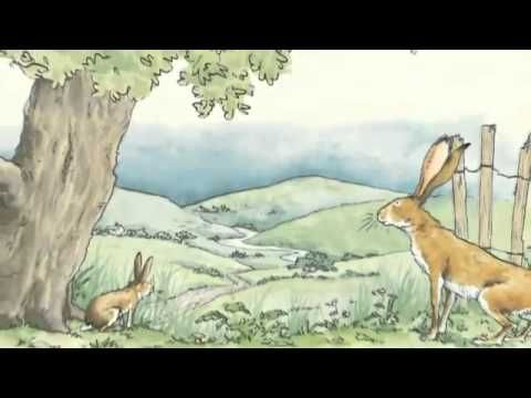 """I love you right up to the moon and back."" The story of Little and Big Nutbrown Hares' efforts to express their love for each other has become a publishing ..."