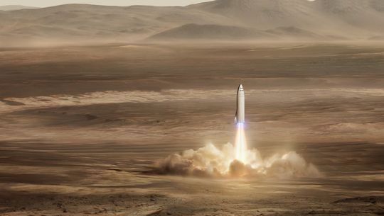 SpaceX's Elon Musk proposes rocket for moon base, Mars city