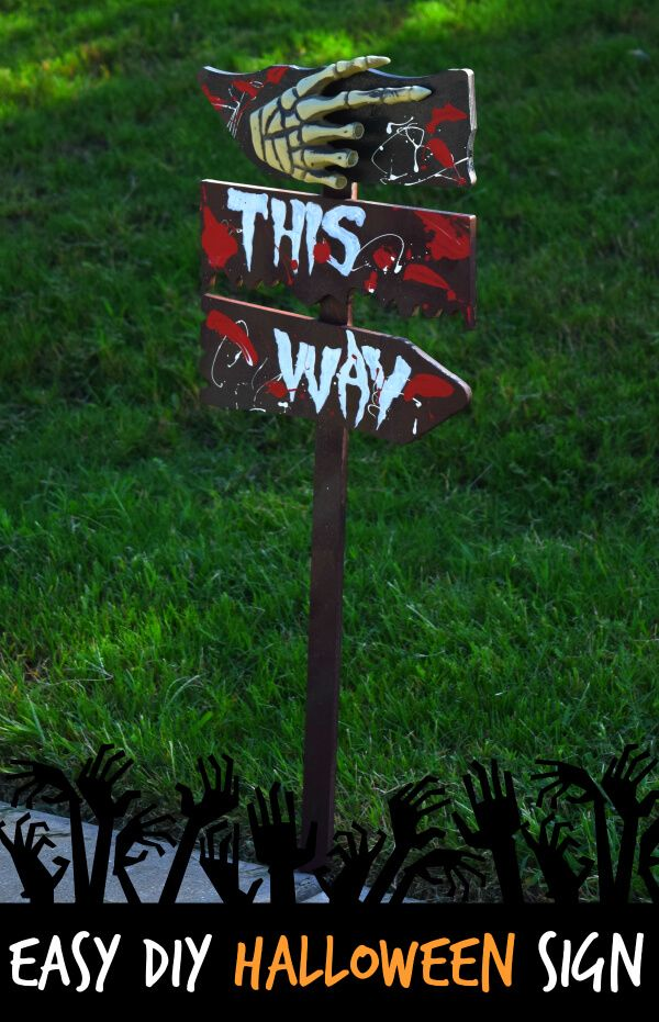 Make These Easy Diy Outdoor Scary Halloween Sign Decorations With