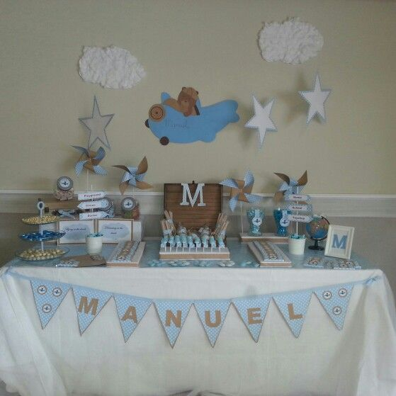 15 best bautizo celeste images on pinterest sevilla for Mesa de dulces para baby shower nino
