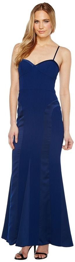 Aidan Mattox Crepe and Charmeuse Gown