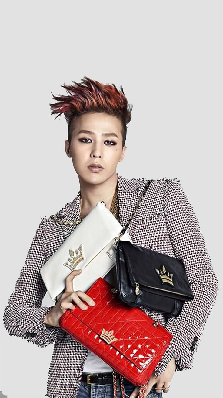 G-Dragon with red hair