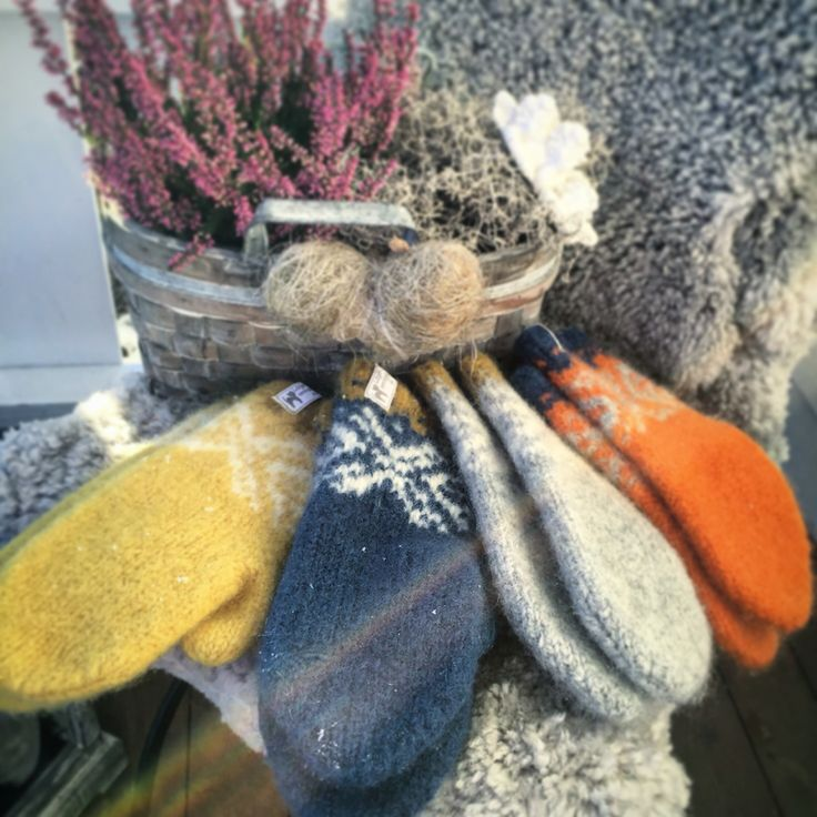 My own knitted mittens-made by me