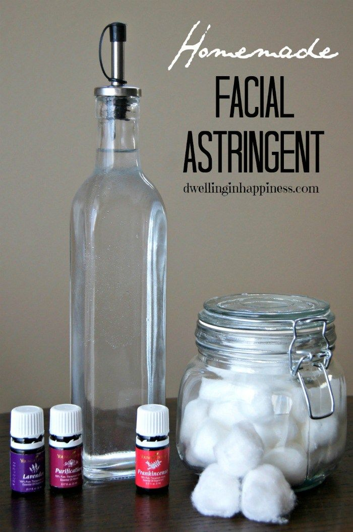 Facial astringent woth EOs for each skin type