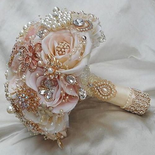 Ékszer menyasszonyi csokor - www.tothzsuzsi.hu