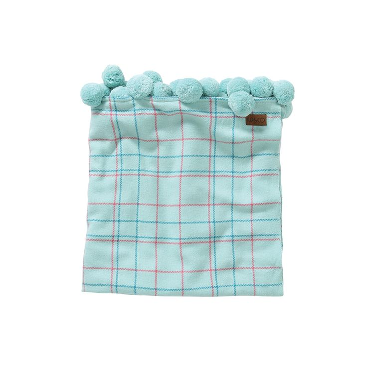AW17 KIP&CO COLOURLINES 100% WOOL BABY BLANKET 90X100cm