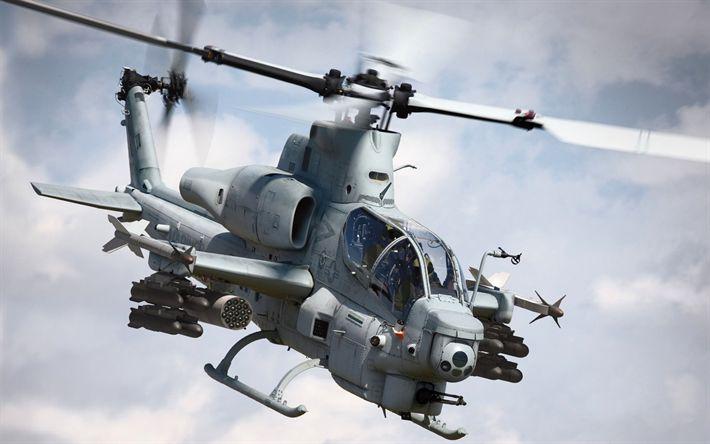 Lataa kuva Bell AH-1Z Viper, helikopterit, lentomelun, Bell, hyökkäys helikopteri