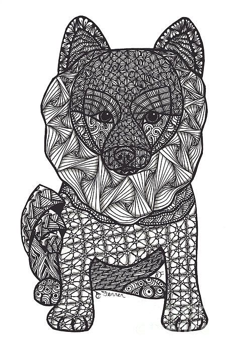 102 best chien images on Pinterest | Coloring books, Drawings and ...