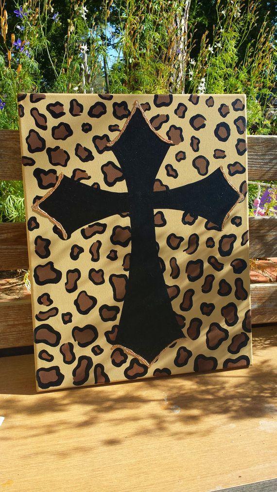 cheetah print cross