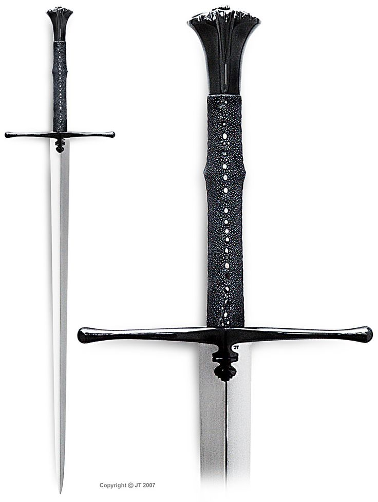 """""""""""Ravenbrand"""" fantasy sword. The blade and the hilt are fashioned after two different medieval swords."""" kp-art.fi"""