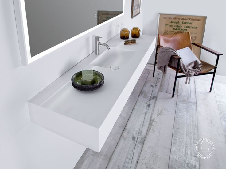 """Furesø 140"" wash basin from Copenhagen Bath."