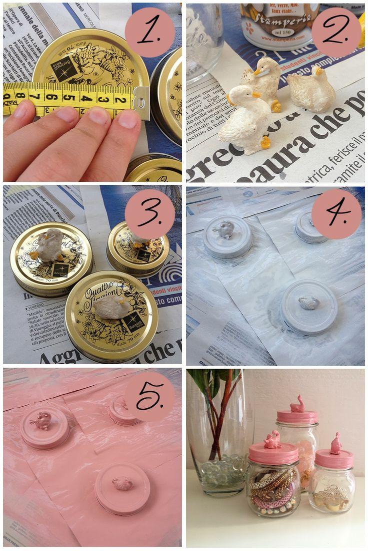 The cutest jars ever! Vasetti decorativi color pastello (DIY, fai da te, home decor)