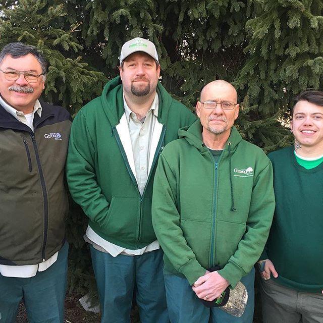 Lawn Care Technicians at Giroud Tree and Lawn from left to right: Mike Taraborrelli, Tom McMonagle, George Kistler, and Kasey Mihalek.  #giroudtreeandlawn #treebiz #arboriculture #lawncare #lawncareservice #lawncaresofinstagram #lawncare_of_instagram #lawn #Philadelphia #montgomerycounty #buckscounty #huntingdonvalley #pa