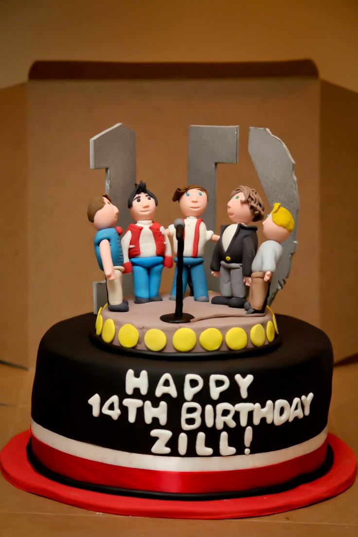 One Direction Cake! For more pictures of this cake please like my page at http://www.facebook.com/MissConfectionality  #onedirection #cake #food @One Direction @One Direction @Molly Boylan
