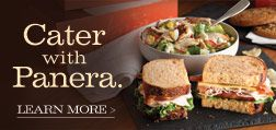 Panera Bread donates 'Bread for a Year' certificate to non-profit groups for auction, raffle or fundraising purposes. Currently they donate one certificate annually. Must apply close to your event date, a month or so. Value: $65. Your local store may donate food for the event as well.  http://www.panerabread.com/about/community/