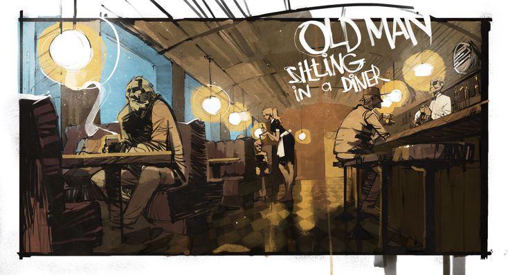 old man, Ivan Shavrin on ArtStation at https://www.artstation.com/artwork/NZmng