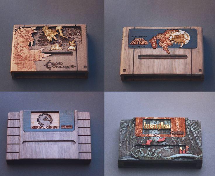 This person makes wooden SNES cartridges as Raspberry Pi Zero Cases