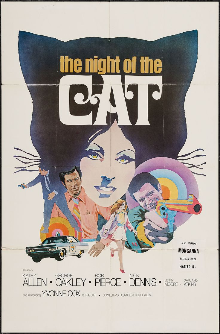 The Night of the Cat (Jim Cinque, 1973) One sheet design