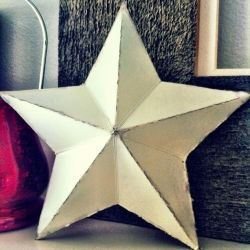 Grab a cereal box and make this 3-D cardboard star.