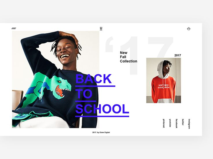 Hello, dribbblers!  Back to School time is coming and we decided to make a design for a teenage fashion store.  We combined bold typography with bright images, putting all together in the chaotic g...