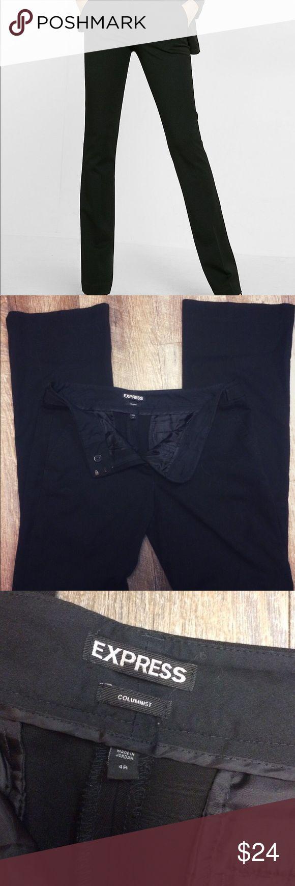 """Express Columnist Pants Excellent condition black Express Columnist Pants in size 4r  31"""" inseam Express Pants"""