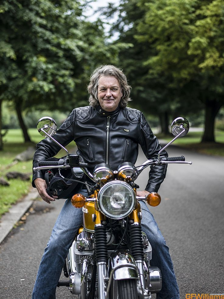 James May and a Honda CB750 25 August 2013 for the October 2013 issue of Classic Bike magazine