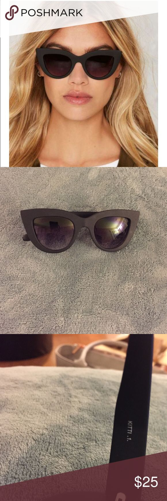 "Quay Australia ""Kitti"" Shades Quay Australia "" Kitti "" Shades                                 Comes as is ( no case)                                              Sunglasses were given inside a "" Mystery Box"" purchased  from LA Fashion/Beauty Blogger Marianna Hewitt.                                                      Looks to be in mild used condition . Quay Australia Accessories Glasses"