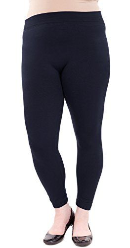 #Navy Ladies Plus Fleece Leggings. These plus-size fleece leggings feature a long length, a banded waistline, a soft comfortable feel, and will keep you warm whe...