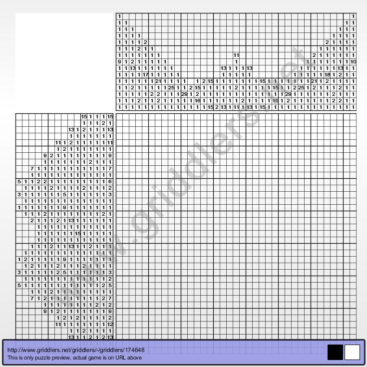 Griddlers Puzzle 174832 Optical Illusion Griddlers Puzzles - graph paper with axis
