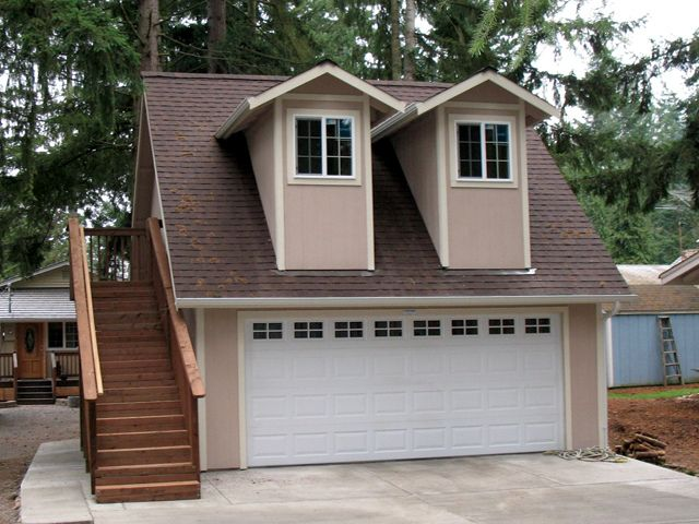 Mother in law apartment 20x20 by tuff shed storage for House plans with loft over garage