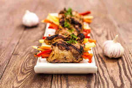 Grillowane steki z paskami  warzyw