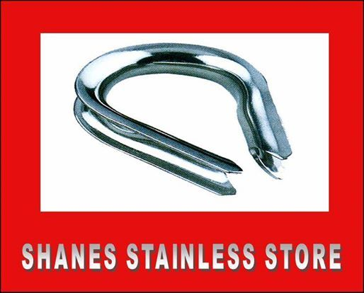 Stainless Steel Thimble:Quality stainless steel fitting used in forming loop to swage wire. #Stainless #Steel #Thimble